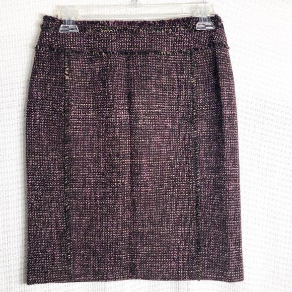 Ann Taylor Dresses & Skirts - Ann Taylor Wool Blend Tweed Skirt Sz 2P   A18